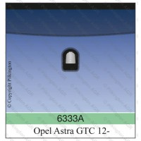 Лобовое стекло Opel Astra J GTC 3D 2012-