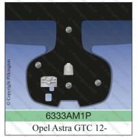Лобовое стекло с датчиком дождя Opel Astra GTC 3D (vin+дд+адап.свет) 2012-