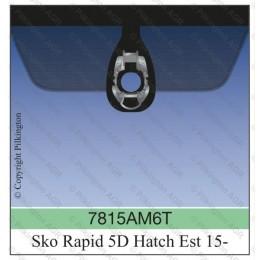 Лобовое стекло с датчиком дождя Skoda Rapid 2015-